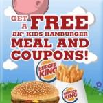 Burger King: FREE Kid's Hamburger Meal!