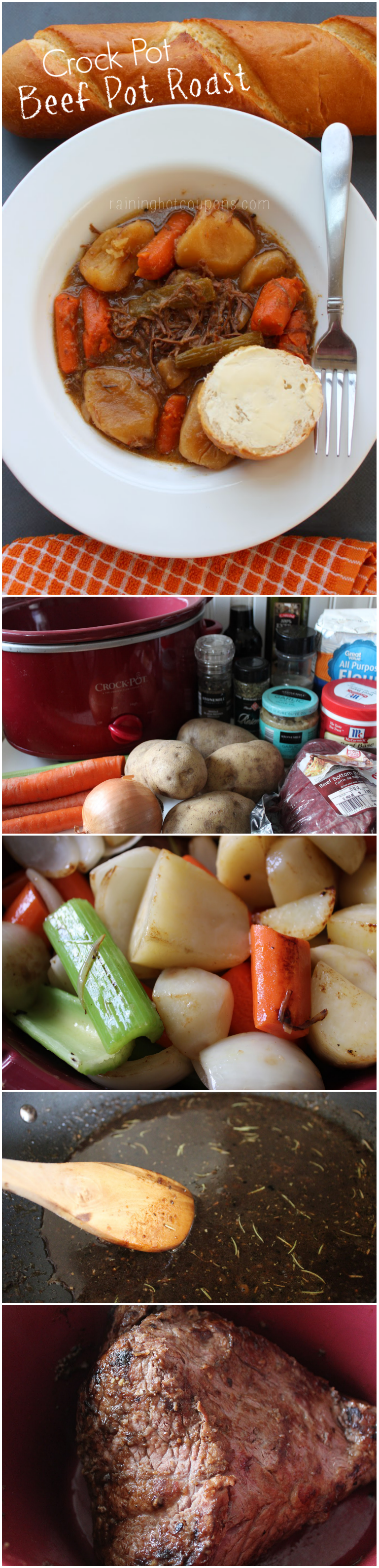 beef pot roast collage