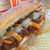 crock pot cheesesteak