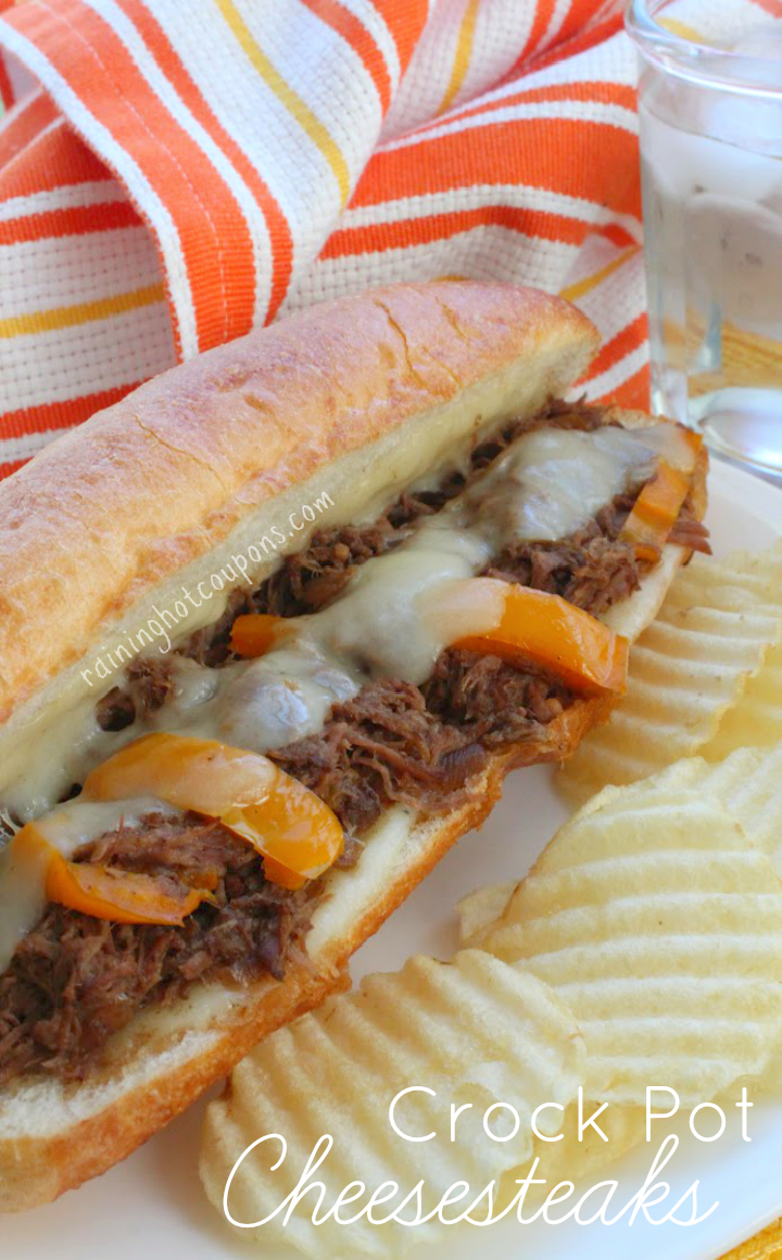Crock Pot Cheesesteaks