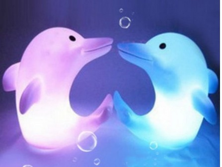 Color Changing Dolphin LED Night Lights Only $1.11 each + FREE Shipping!