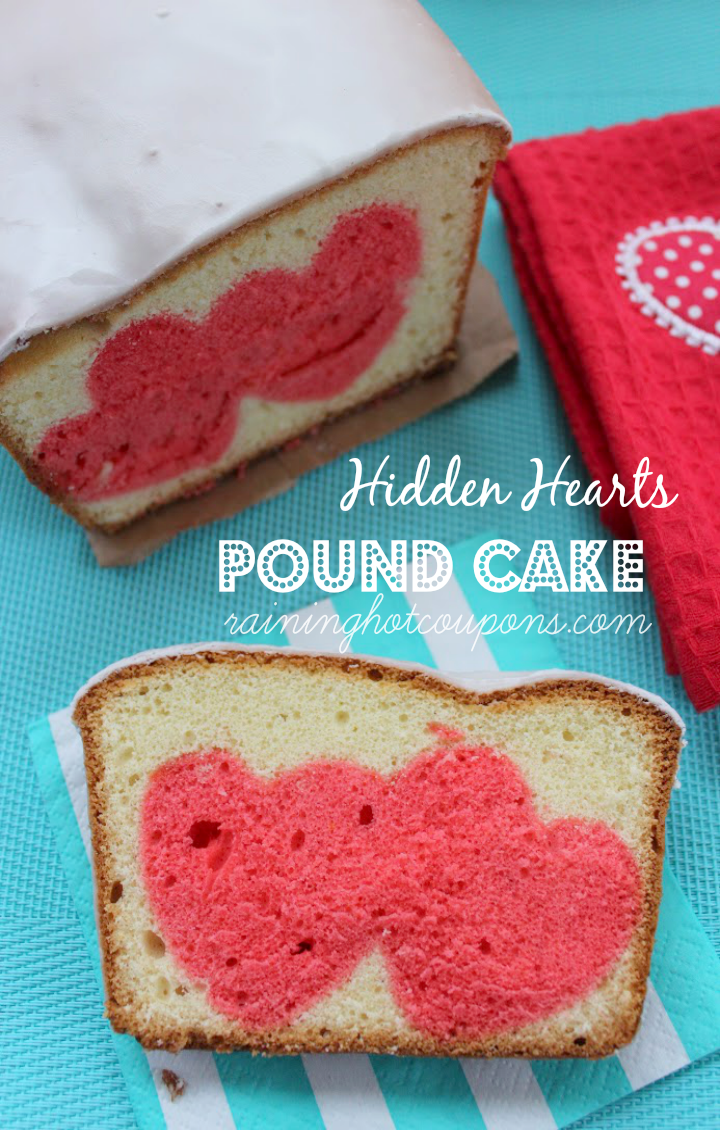 hidden hearts pound cake