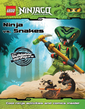 Hot lego ninjago ninja vs snakes paperback book with snake mini figure only - Ninjago vs ninjago ...