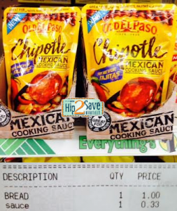 oldelpasosauce 253x300 Old El Paso Mexican Cooking Sauce Pouches Only $0.13 at Dollar Tree!