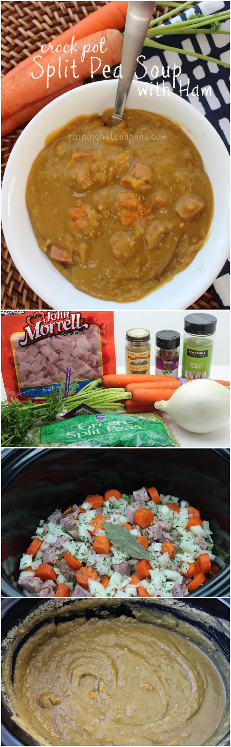 split pea soup collage