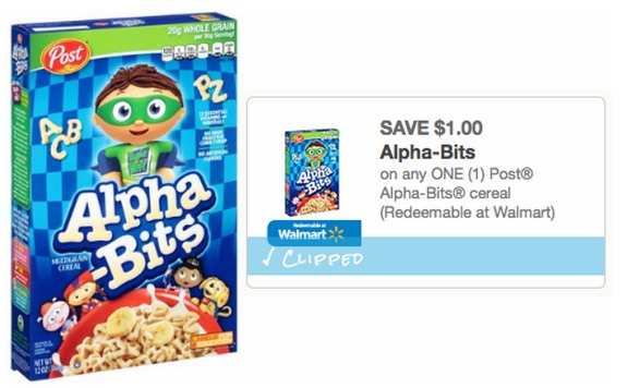 Walmart: Post Alpha Bits Cereal Boxes Only $1.56!
