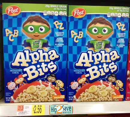 alpha Walmart: Post Alpha Bits Cereal Boxes Only $1.56!