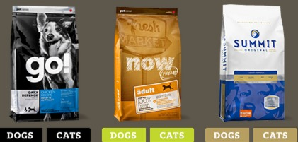 FREE Trial Bag or FREE can of Petcurean Dog or Cat food!