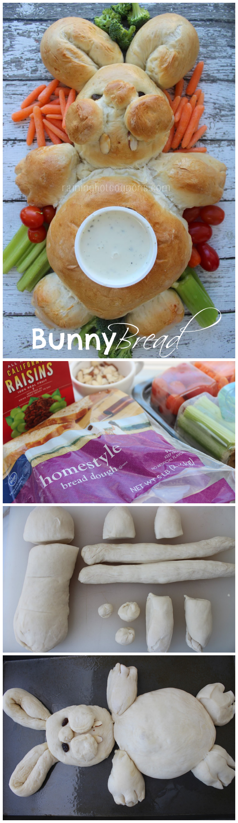 bunny bread collage
