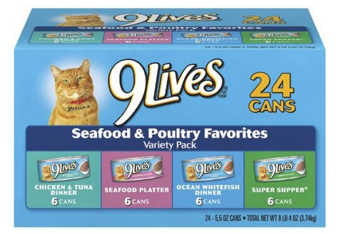 *HOT* 9Lives Seafood and Poultry Variety Pack, 24 Count Only $9.48 Shipped (Reg. $17.63)!