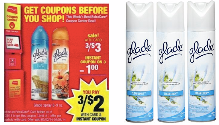 freeglade 3 FREE Glade Freshener Sprays at CVS (Beginning 3/2)!