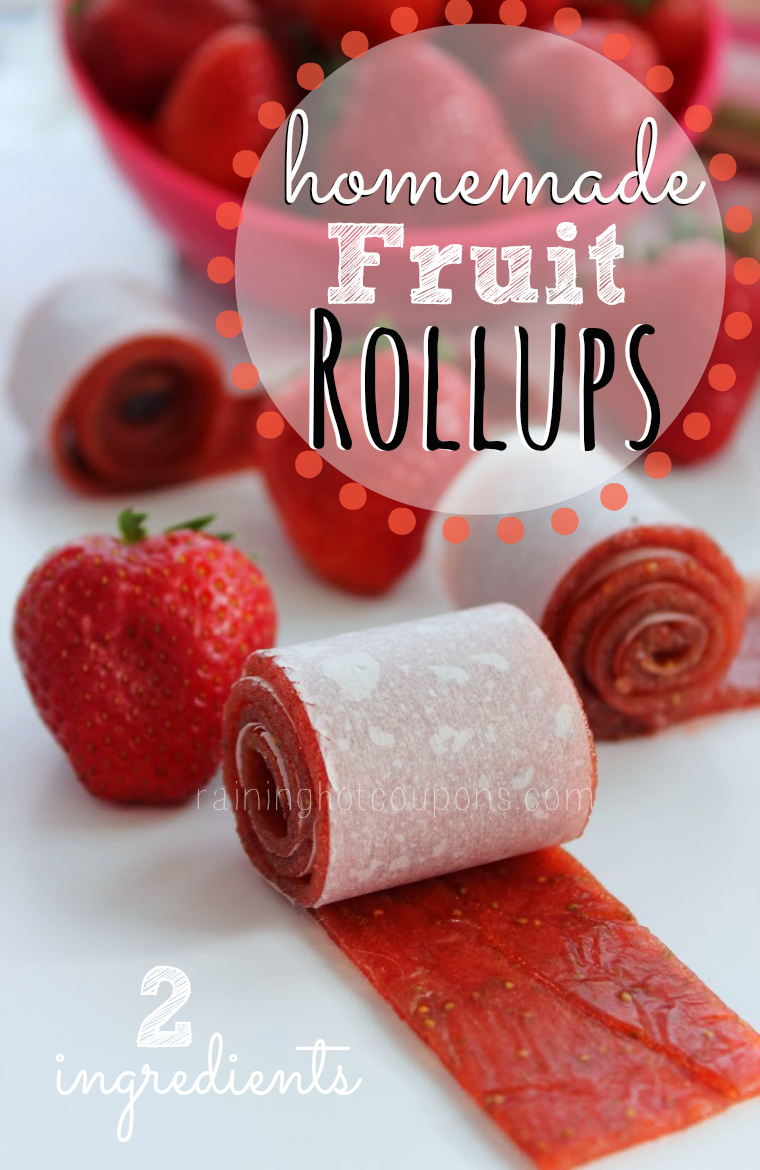 Homemade 2-Ingredient Fruit Rollups