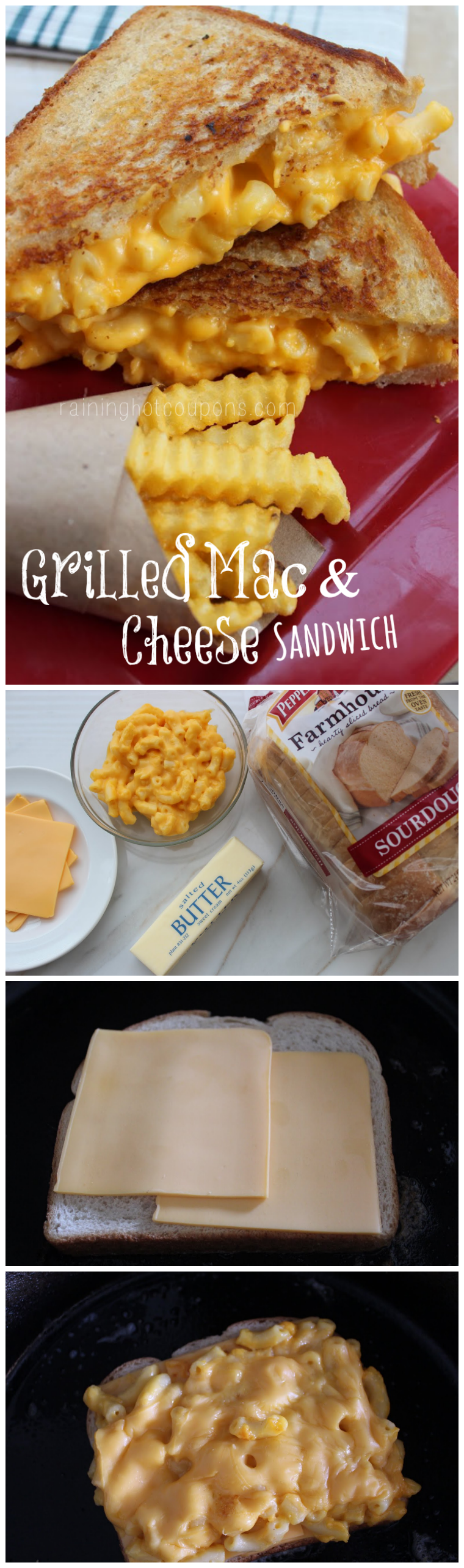 grilled mac cheese collage