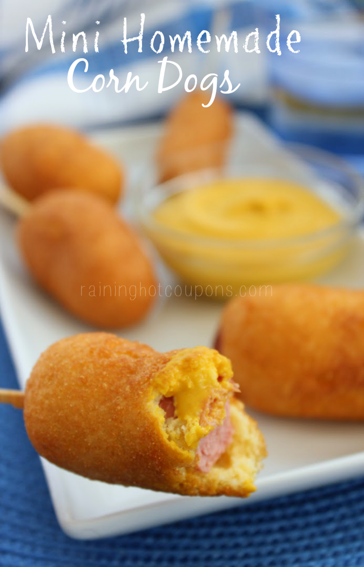 mini homemade corn dogs