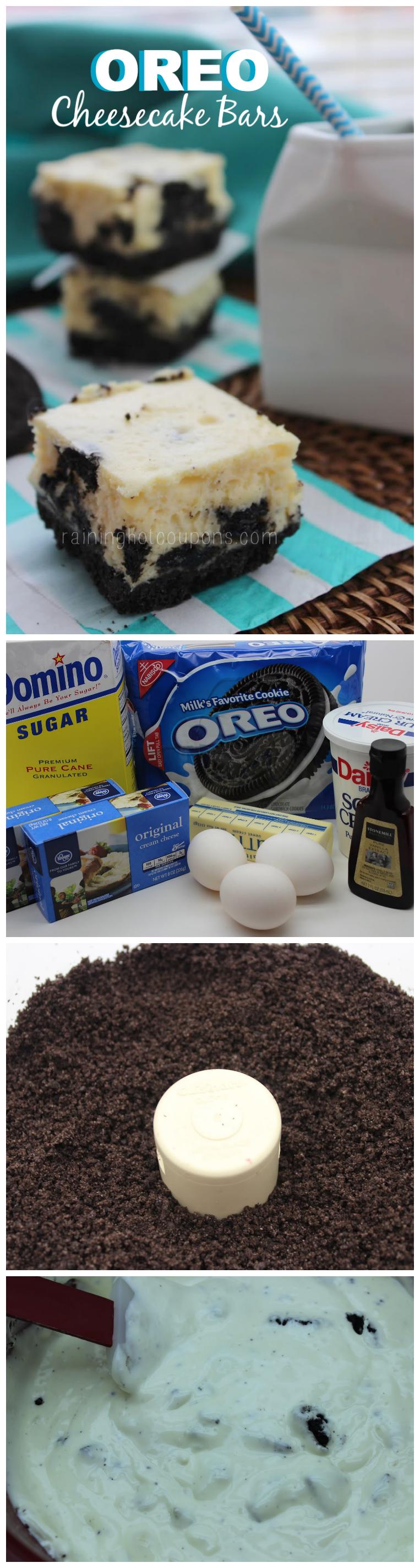 oreo cheesecake collage