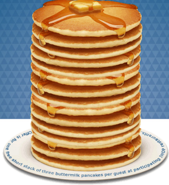 pancakes IHOP: FREE Short Stack of Buttermilk Pancakes!