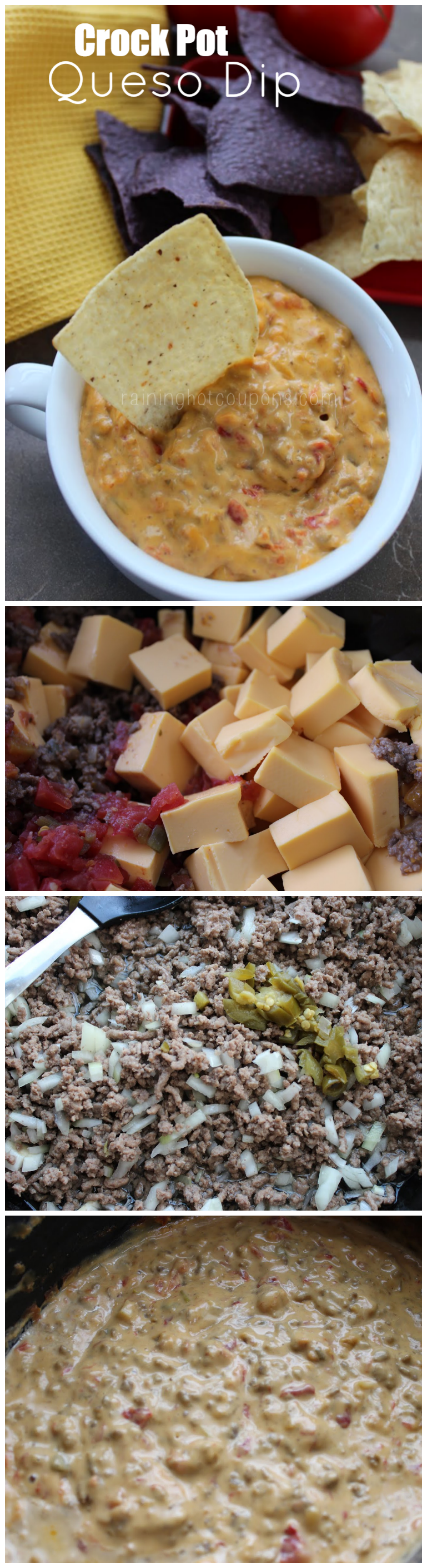 queso dip collage