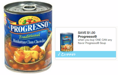 screen shot 2014 02 01 at 9 19 56 am Walgreens: 4 FREE Cans Of Progresso Soup (Today Only)