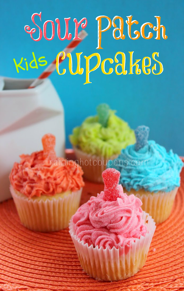 sour cupcakes.png Sour Patch Kids Cupcakes