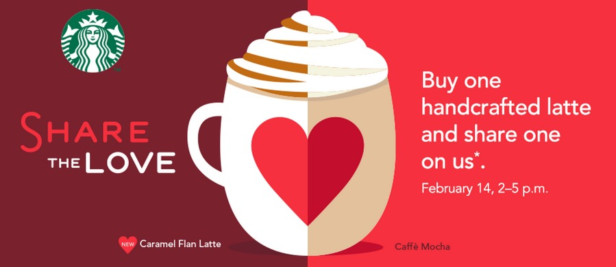 Starbucks: Buy 1 Get 1 FREE Latte!