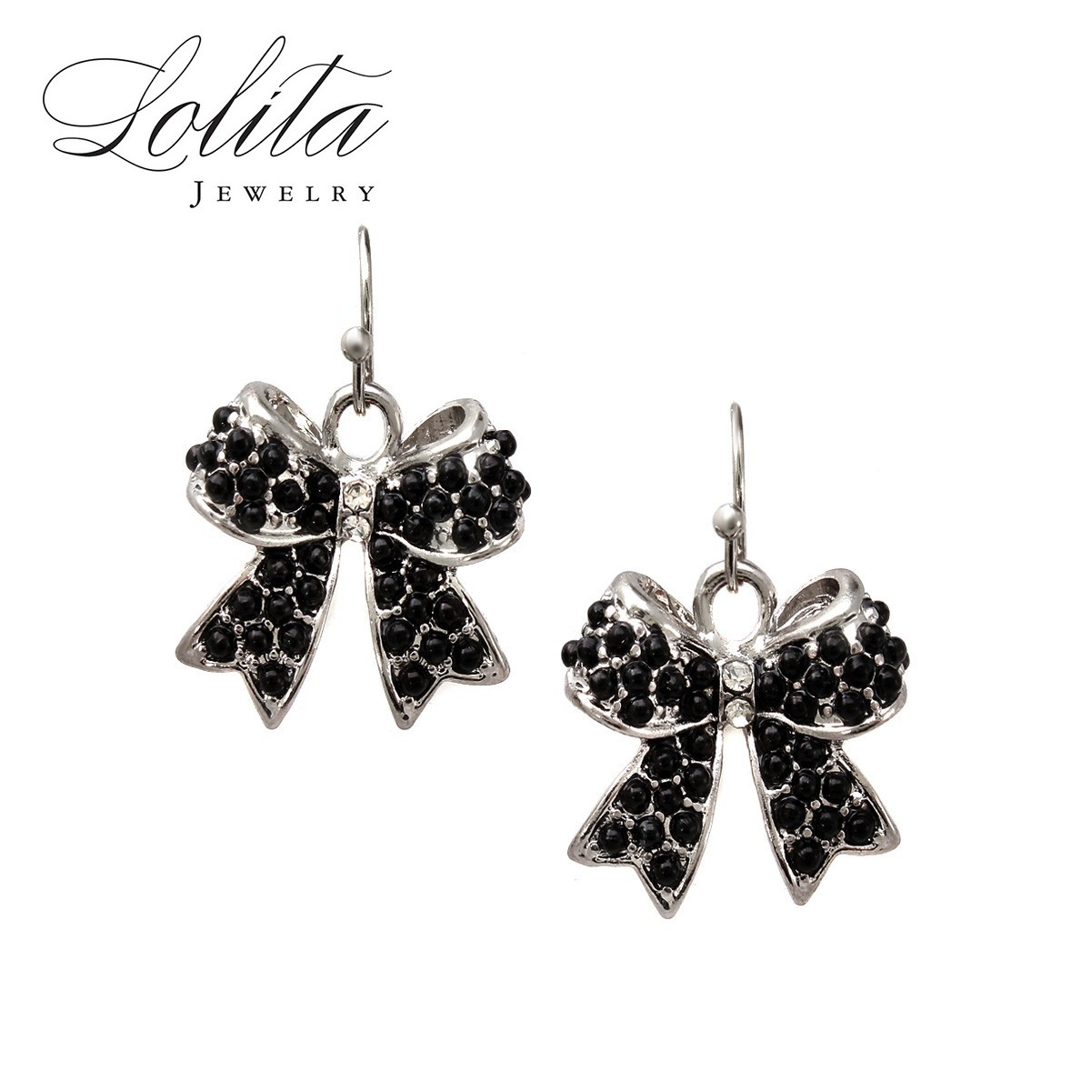 1627base Mini Bow Studded Drop Earrings Only $5.00 Shipped with New Member Credit!