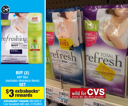 Ban refresh6w CVS: FREE Ban Refresh Cloths + Money Maker