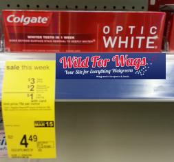 Colgate Optic White1 Walgreens: Better Than FREE Colgate Optic White Toothpaste