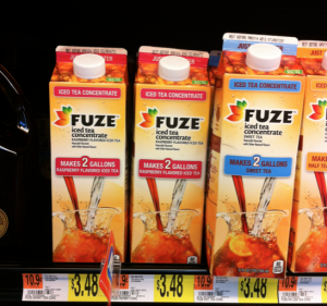 Fuze iced tea coupon walmart deals 300x281 Fuze Iced Tea Concentrate Only $2.63 at Walmart