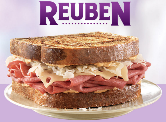 REUBEN *HOT* Arbys: Buy 1 Get 1 FREE Reuben Sandwich + FREE Small Dink and Fry with Purchase Coupon!