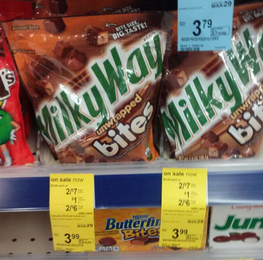 Screen Shot 2014 03 09 at 8.17.40 AM Walgreens: Mars Snickers or Milky Way Bites Only $1.50