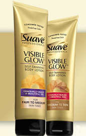 Suave Professionals Visible Glow Self Tanning Lotion Suave Professionals Visible Glow Giveaway (50,000 Winners)