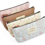 Set of 4 Canvas Pen Bag Pencil Cases in Different Colors Only $3.89 + FREE shipping = $0.97 each!