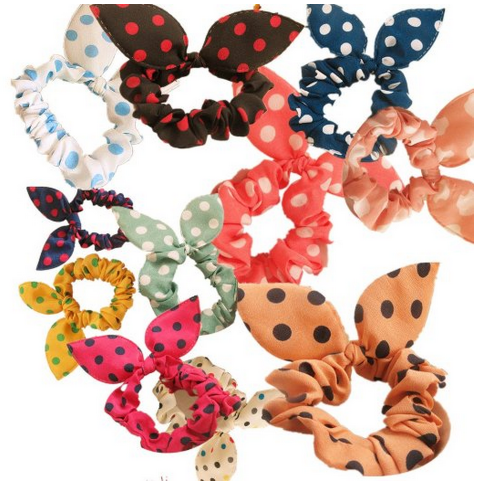 bows *HOT* 10 Piece Bunny Ears Hair Ties/Accessories $6.86 + FREE Shipping