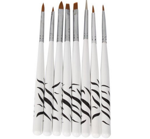 brush 8 Piece Nail Art Design Detailing Drawing Brushes Only $2.18 + FREE Shipping!
