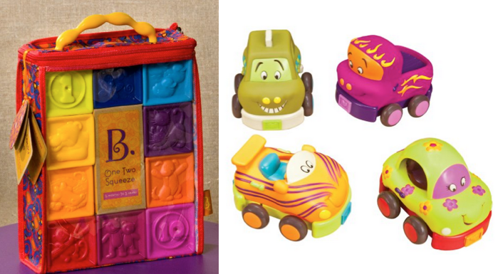 cars *HOT* Baby Toys B. One Two Squeeze Blocks Only $7.43 (Reg. $14.99) + More!