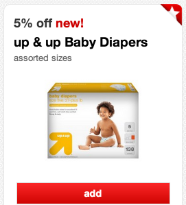 cart *HOT* Target: 2 Packages of Diapers and 2 Packages of Baby Wipes ALL for ONLY $10.84!