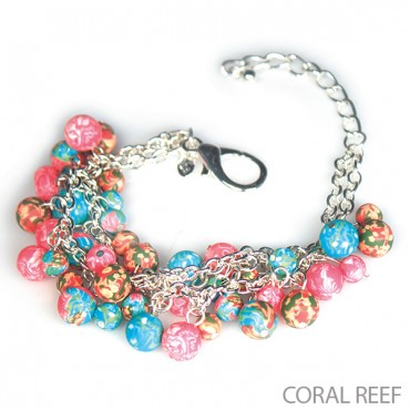 coralreef 1 4 Maxwells Attic: Beautiful Beaded Mesh Chain Bracelet Only $7.00 After New Member Credit (Reg. $32.00)!
