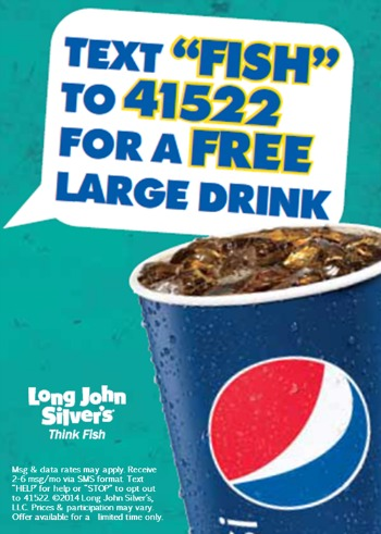 drink Long John Silver's: FREE Large Drink Coupon (No Purchase Necessary!)