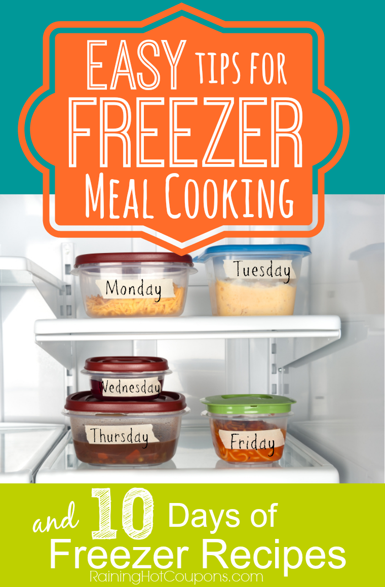 Easy Tips for Freezer Meal Cooking/Planning + 10 Days of ...