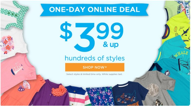 Gymboree: *HOT* One Day Online SALE = Clothing Items Only $3.99!