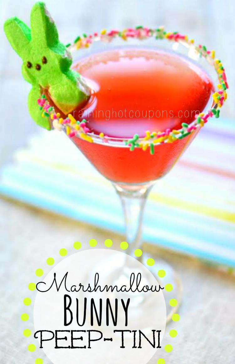Marshmallow Bunny Peep-Tini (Easter Martini) - Raining Hot Coupons