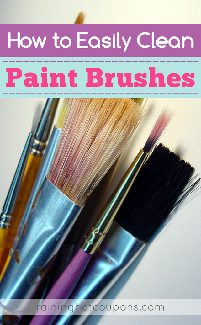 paint How To Easily Clean Paintbrushes
