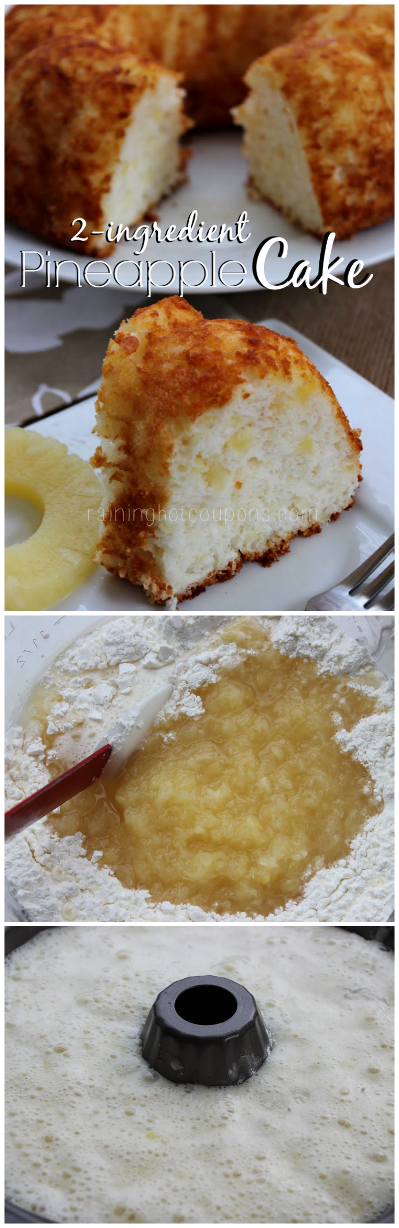 Pineapple Cake Only 2 Ingredients