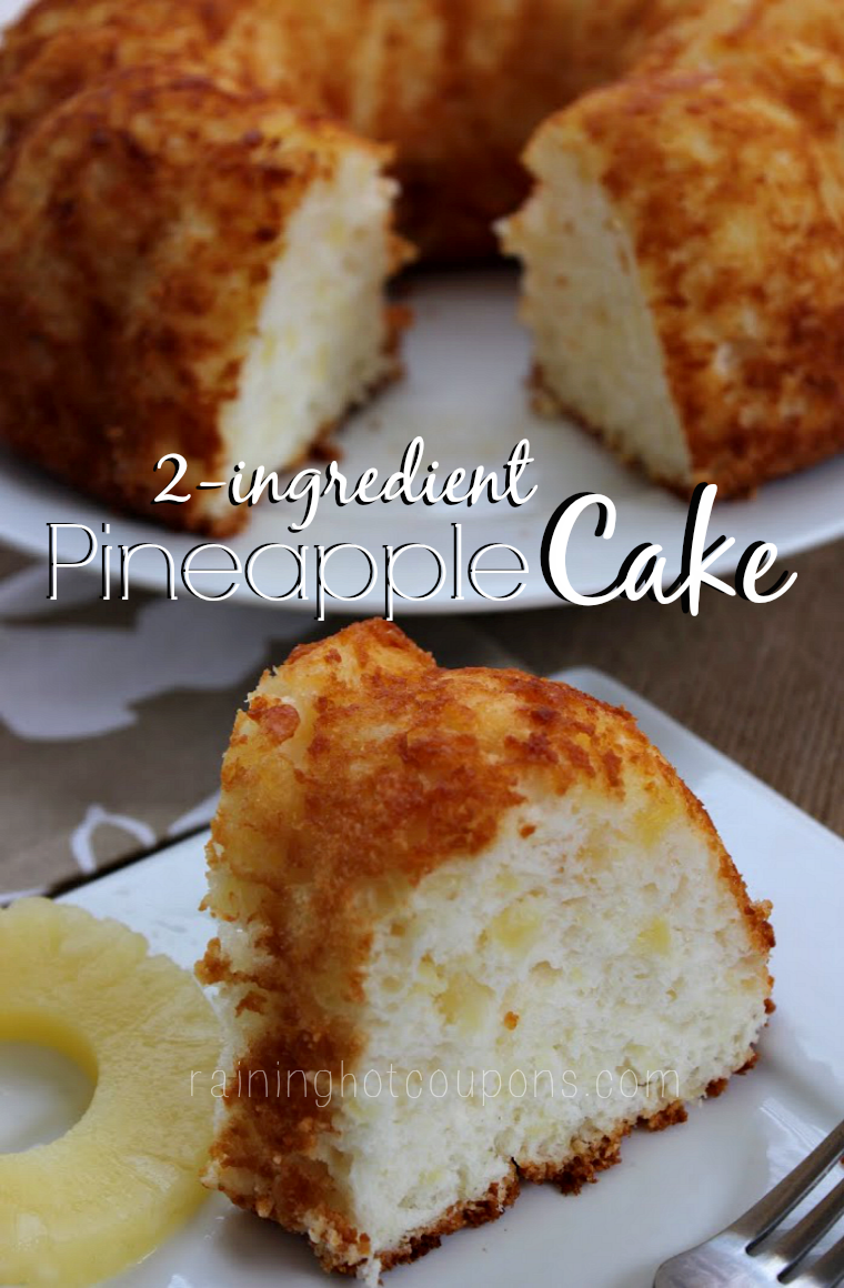 Pineapple Cake (Only 2 Ingredients!) This is by far, one of my favorite recipes to make because it's super easy and full of flavor!