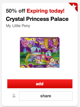 pony *HOT* Target: 50% off My Little Pony Crystal Princess Palace (TODAY ONLY!)