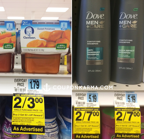 rite aid FREE Dove Men + Care and Gerber Baby Food at Rite Aid