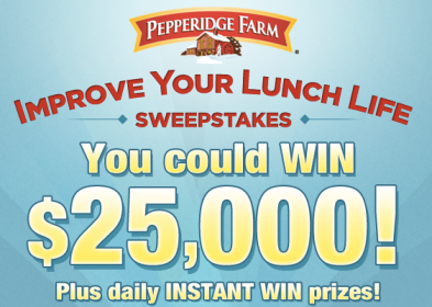 screen shot 2014 03 14 at 6 41 46 am Pepperidge Farm: Improve Your Lunch Life Sweepstakes & IWG (Over 5,000 Winners)