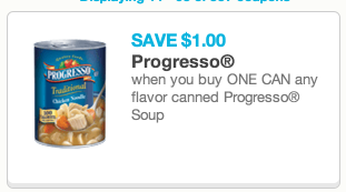 soup *HOT* $1 off ANY Progresso Soup Coupon = FREE at Dollar Tree and Other Stores!