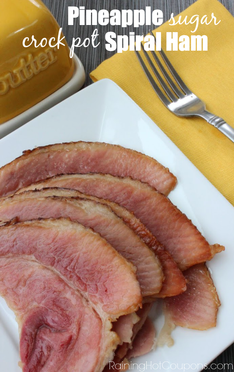 spiral ham.png Crock Pot Pineapple Brown Sugar Spiral Ham