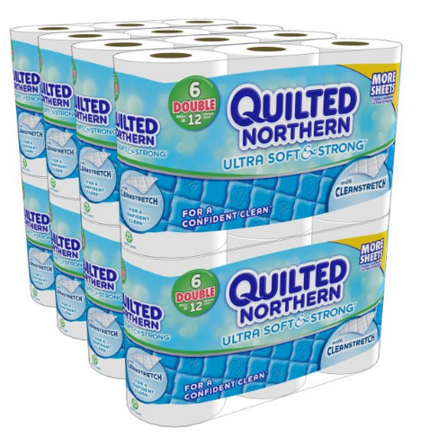 toilet *HOT* Quilted Northern Ultra Soft and Strong Bath Tissue 48 Double Rolls Only $21.24 + FREE Shipping!